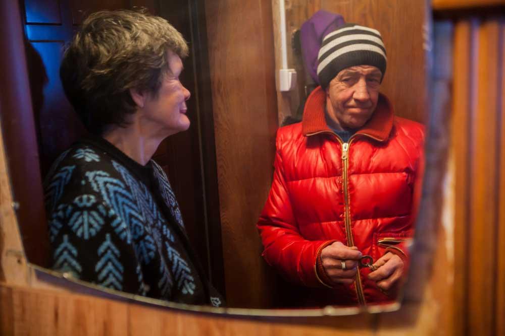 Фото в зеркале мужика