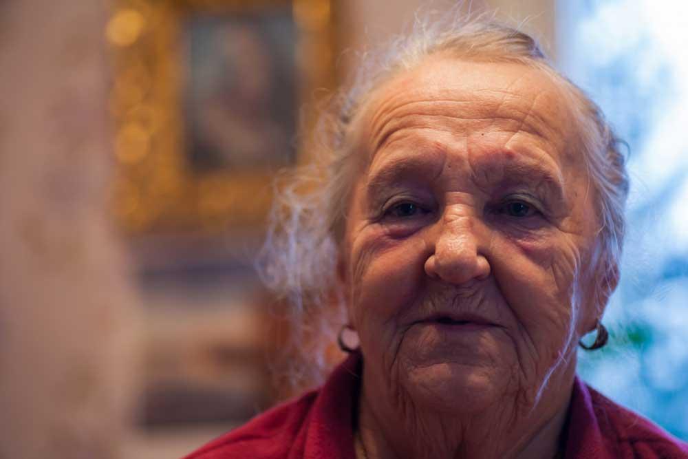 лицо бабушки