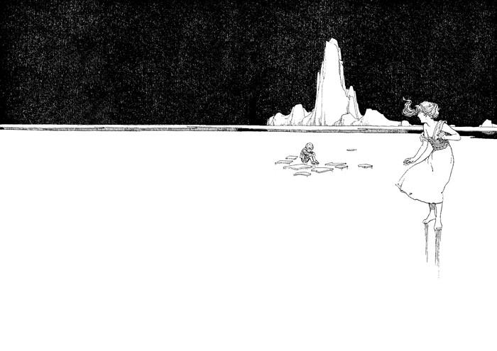 """Иллюстрация к сказке """"Снежная королева"""", Уильям Хит Робинсон"""